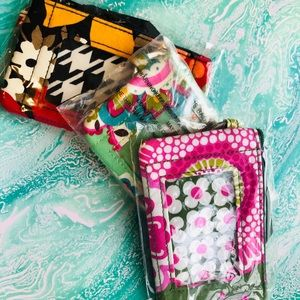Vera Bradley Lot of 3 Zip ID Cases